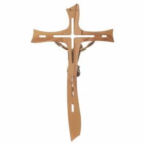 Croix olivier Christ résine or 65 cm s4