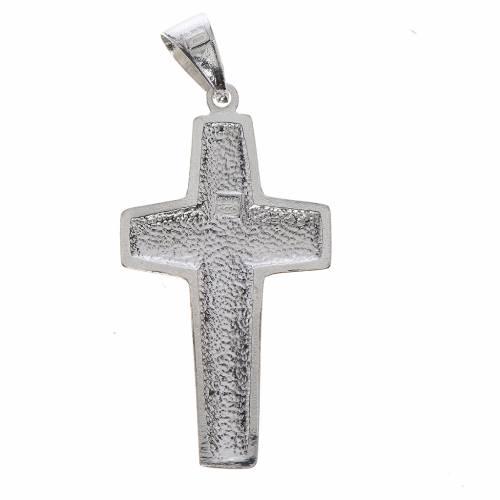 Croix Pape François Bon-Pasteur argent 800 s2