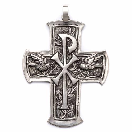 Croix pectorale en argent 800 Chi-Rho s1