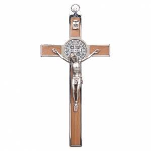 Croix Saint Benoît zamac incrusté s1