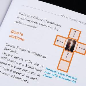Eleonora's project and Father Silvano: Cross for Stations of the Cross, Divine Mercy of Jesus with book