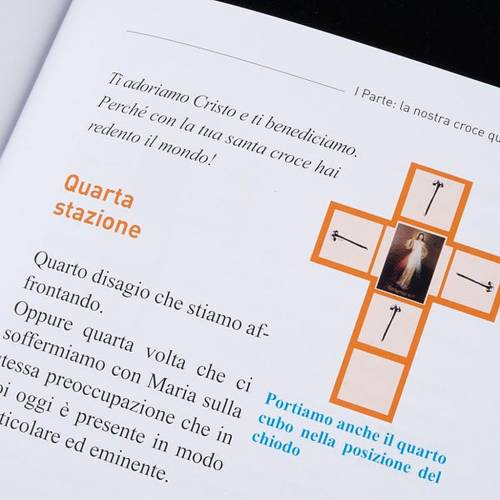 Cross for Stations of the Cross, Divine Mercy of Jesus with book s6