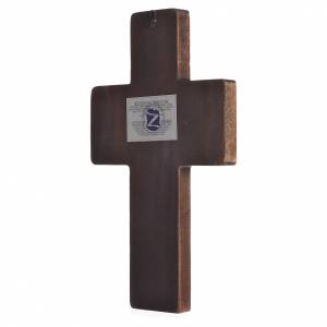 Cross icon with print of the Mysteries on wood, Greece 22x36cm s2