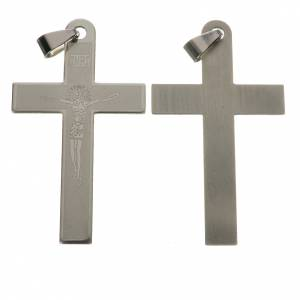 Cross in steel with laser engraving 5 cm s1