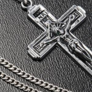 Cross pendant in steel with chain s3