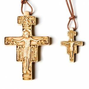Ceramic cross pendants: Cross pendent San Damiano