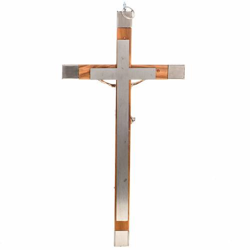 Crucifijo 30x15 para sacerdotes madera olivo s3