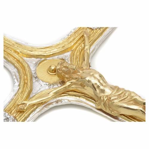 Crucifijo bronce bicolor s4