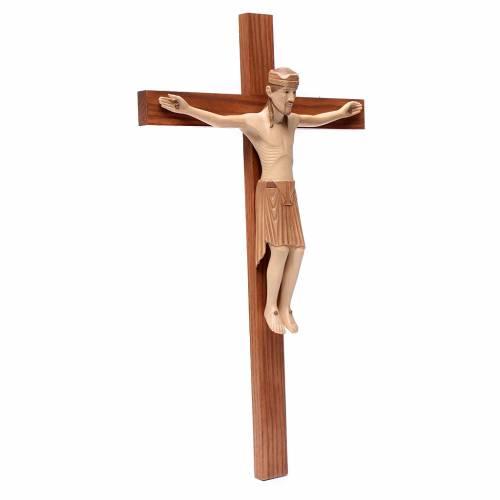 Crucifijo de Altenstadt románico, madera Valgardena varias patin s3