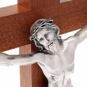 Crucifijos de mesa: Crucifijo de madera de caoba con base