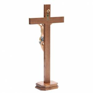 Crucifijos de mesa: Crucifijo de mesa cruz recta madera Valgardena modelo Corpus