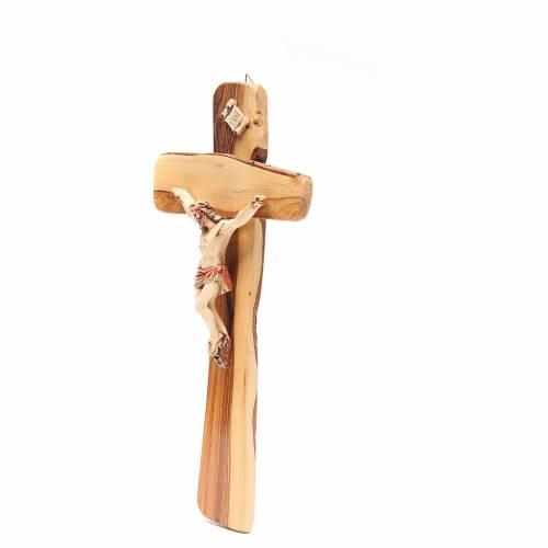 Crucifijo de pared madera olivo Medjugorje s2
