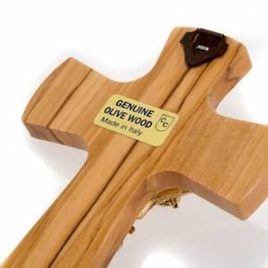Crucifijo madera de olivo, cuerpo dorado s3