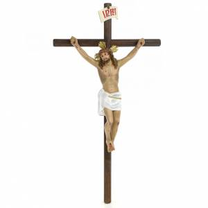 Wooden crucifixes: Crucifix, 30cm in wood paste with elegant decorations