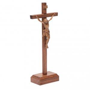 Crucifix à poser sculpté bois patiné mod. Corpus s3