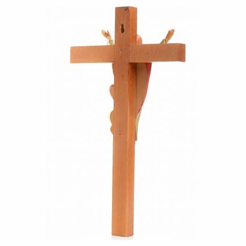 Crucifix bois Chris Ressuscité 30x17 cm Fontanini s3