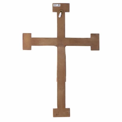 Crucifix Chist roi en blanc, croix verte en pierre s5