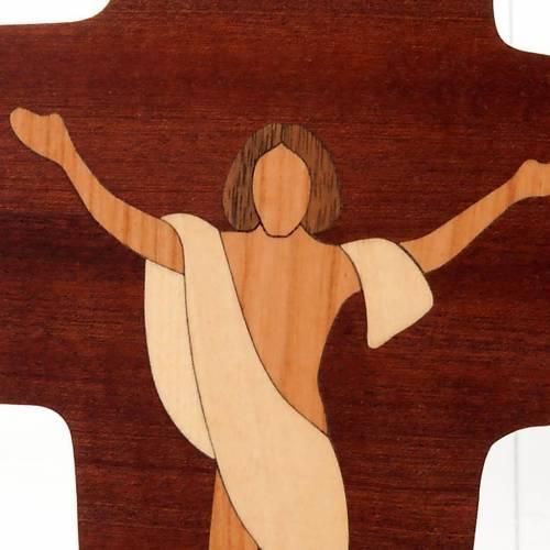 Crucifix Christ Ressuscité Azur bois s2