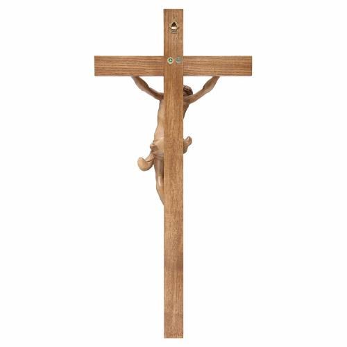 Crucifix croix droite Corpus Valgardena patiné s4