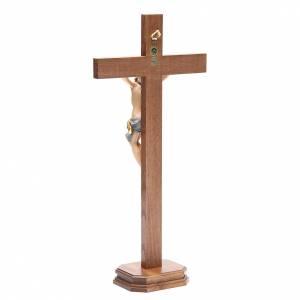 Crucifix droit avec base bois Valgardena modèle Corpus s3