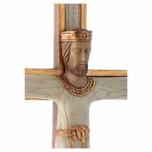Crucifix en pierre, Chist, roi en blanc, croix blanche s4