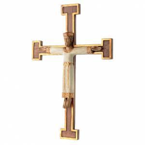 Crucifix en pierre, Chist, roi en blanc, croix marron s2