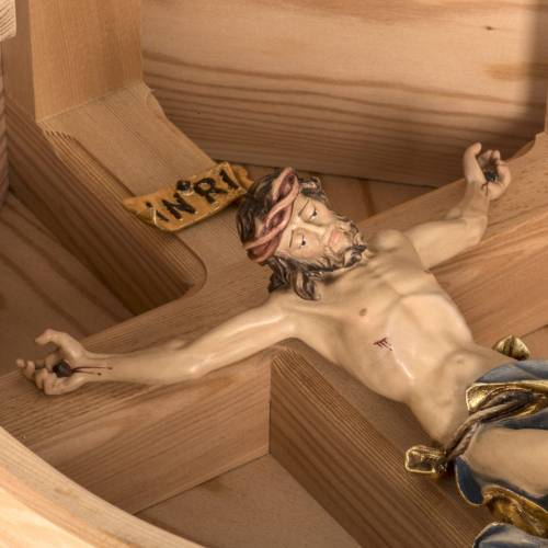 Crucifix in larch wood, Val Gardena s17