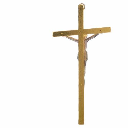 Crucifix métal doré 11 cm s2