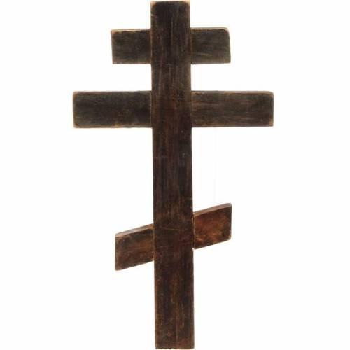 Crucifix ortodoxe ancien, XIX siècle s3