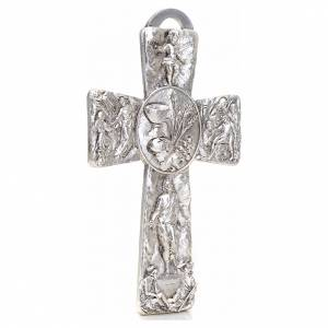 Crucifix, silver table cross with Burial, Resurrection, Ascensio s2