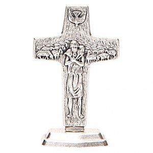 Cruz Buen Pastor Papa Francisco con Base s1