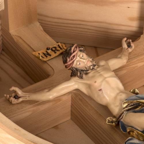 Cruz campo alerce con cuerpo de Cristo Val gardena s17
