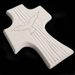 Cruz de confirmación Espíritu Santo Blanco 15 cm s5