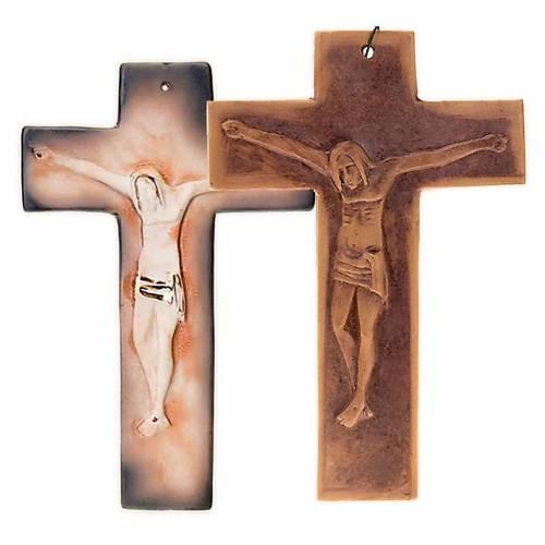 Cruz de muro cerámica cm. 23 1