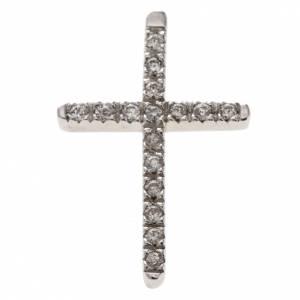 Colgantes, cruces y broches: Cruz  de plata 925 con strass