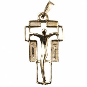 Colgantes, cruces y broches: Cruz dorada en plata 800 Moderna