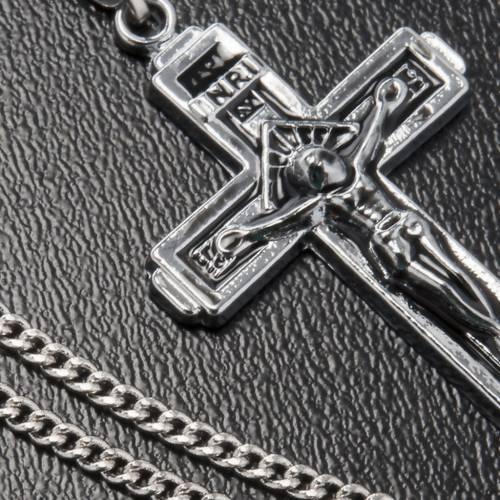 Cruz pendiente metal con cadena s3