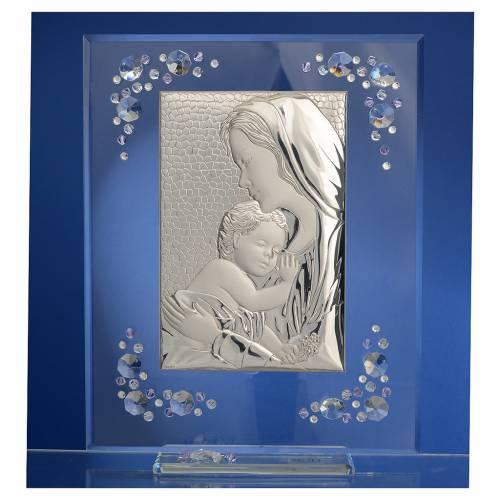 Cuadro Maternidad Plata Swarovski Glicinia s2