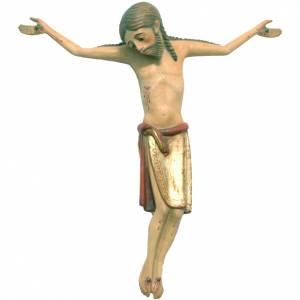 Cuerpo de Cristo 47 cm. románico madera Valgardena Antiguo Gold s1