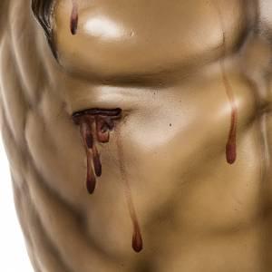 Cuerpo de Cristo muerto 160cm pasta de madera, acabado extra s7