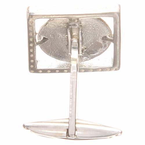 Cufflinks Silver 800 rhodium-plated, St. Anthony of Padua 1,7x1,7cm s4