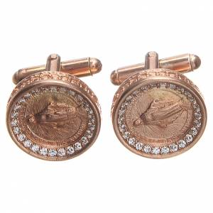 Cufflinks Silver 800 rosé, Miraculous Madonna 1,7cm s3
