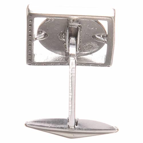 Cufflinks Silver 800, St. Anthony of Padua 1,7x1,7cm s2