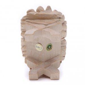 Culla Gesù Bambino 7cm legno Valgardena naturale cerato s4