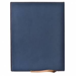 Custodia portariti A4 Agnello impresso blu Bethléem s2