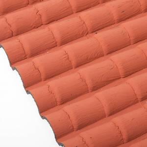 Hauszubehör für Krippe: Dach Krippe rote Ziegeln