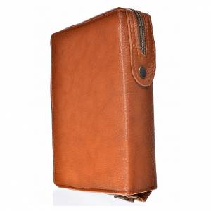 Daily Prayer covers: Daily prayer cover brown bonded leather with Holy Trinity image