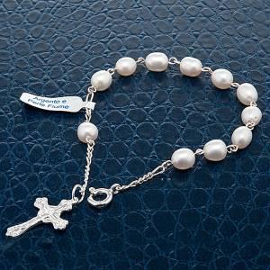 Bracciali in argento: Bracciale decina argento 800 e perle di fiume