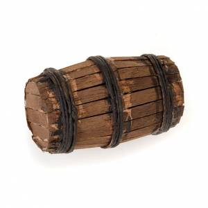 Crèche Napolitaine: Décor crèche tonneau en bois