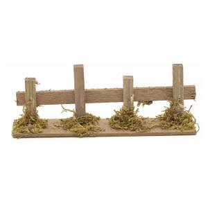 Ponts, ruisseaux, palissades pour crèche: Décor de crèche, palissade en bois 15x3 cm